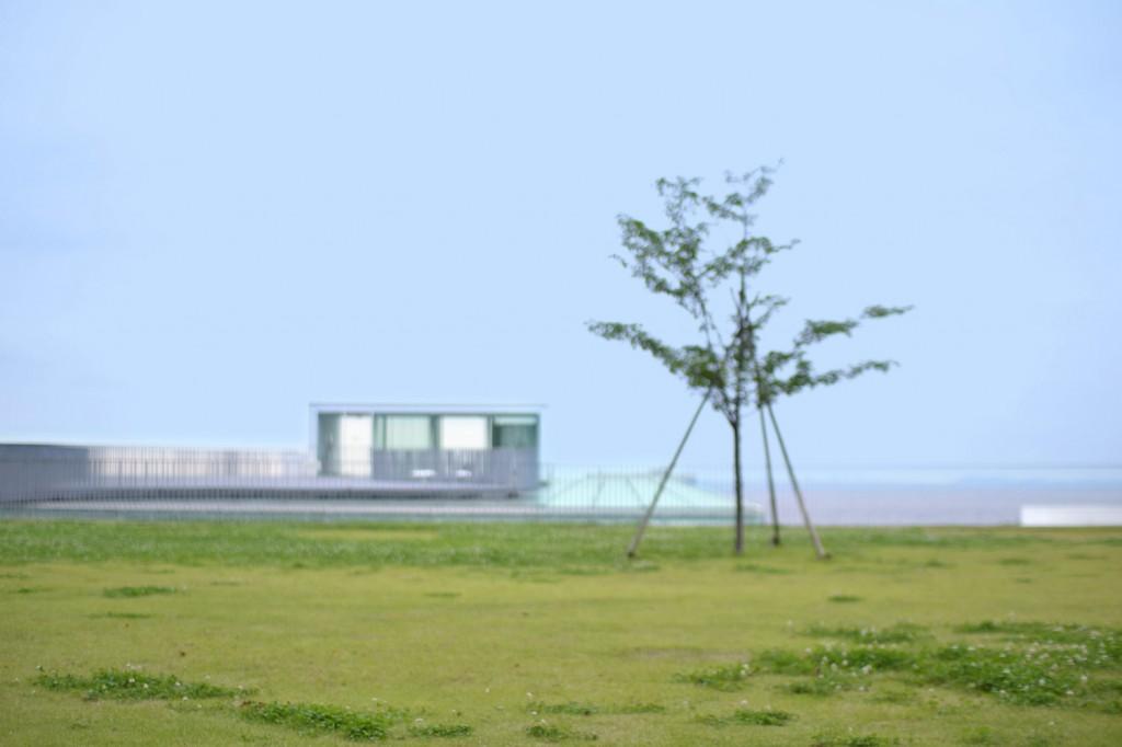 ロケーション撮影スポット 芝生と海