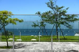 海辺と芝生、リゾート系ロケーションフォトスポット